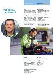 Dipl. Rettungs- sanitäter/in HF - Gesundheitsberufe