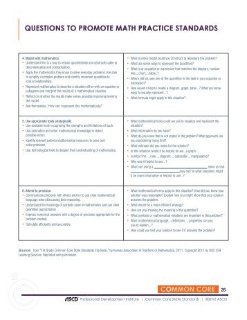 standards of practice paper 1 standards for mathematical practice common core state standards for mathematics to emphasize the mathematical practices, the ccss gives.