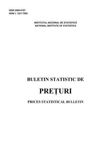 PREÅ¢URI - Institutul National de Statistica