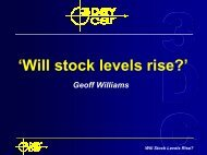 'Will stock levels rise?' - 3DayCar