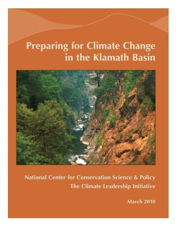 Preparing for Climate Change in the Klamath Basin (2009)