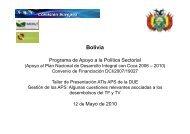 Bolivia - Viceministerio de Coca y Desarrollo Integral