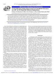 Vertical Blocking Voltage Improvement of GaN HEMT Structures on ...