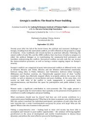 Georgia's conflicts: The Road to Peace-building - Ludwig Boltzmann ...