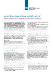 Agressie en geweld in de publieke sector - Inspectie SZW