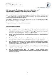 Die wichtigsten Änderungen aus dem 9. Nachtrag zur ...
