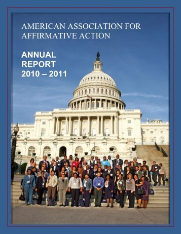 american association for affirmative action annual report 2010 – 2011