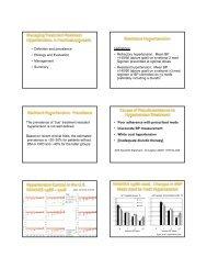 Refractory hypertension - Southern Medical Association
