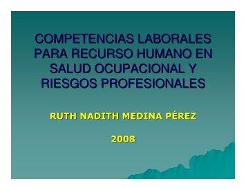 Competencias laborales recurso humano - Consejo Colombiano de ...
