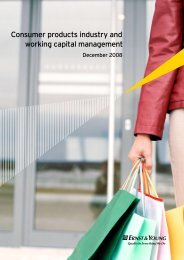 Consumer products industry and working capital management