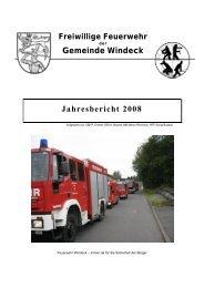 Gemeinde Windeck Jahresbericht 2008 - Feuerwehr Windeck