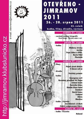 26. - 28. srpna 2011 - Festival Otevřeno - Jimramov