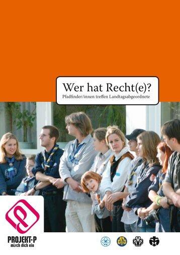 Wer hat Recht(e) - VCP Land Niedersachsen