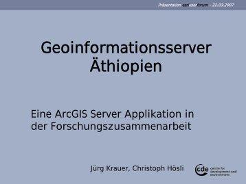 Visualisierung und Modellierung geographischer ... - Esriuserforum.ch