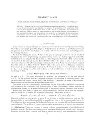 SOLVENCY GAMES 1. Introduction A key concern in computer ...