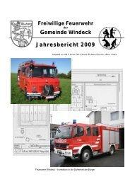 Gemeinde Windeck Jahresbericht 2009 - Feuerwehr Windeck