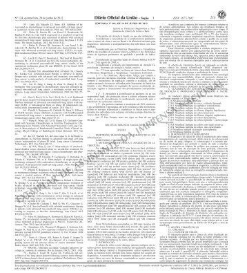 EXEMPLAR DE ASSINANTE DA IMPRENSA NACIONAL - Conass