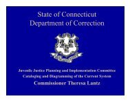 State of Connecticut Department of Correction - Connecticut House ...