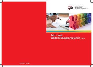 Fort- und Weiterbildungsprogramm 2010 - AWO Mecklenburg ...