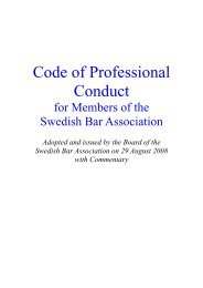 Code of Professional Conduct with Commentary - Advokatsamfundet