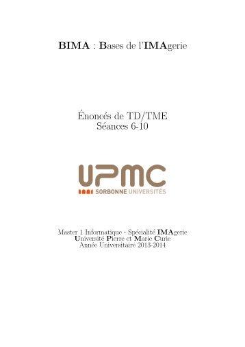 Livret des 5 dernières séances de TD-TME - IA