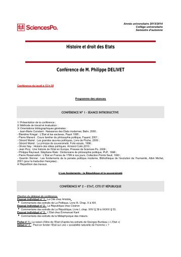 DELIVET, Philippe F. - Sciences Po