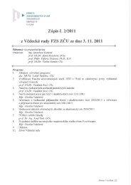 VR 2/11 - ZÁPIS ze dne 03.11.2011 - Fakulta zdravotnických studií