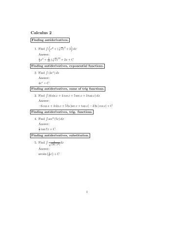 Calculus II Practice Exam (pdf)