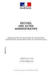Recueil des actes administratifs n° 83 du 23 décembre 2011