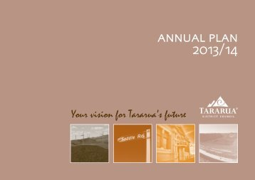 annual plan 2013/14 - Tararua District Council