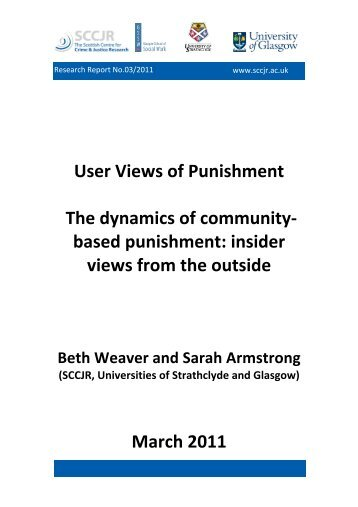 Report 2011 03 User Views of Punishment-1 - sccjr