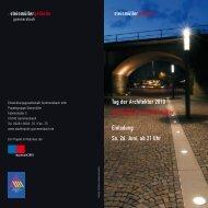 Tag der Architektur 2010 Nachtglühen auf Steinmüller Einladung Sa ...