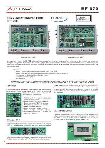 Communicaitions par Fibre Optique - EF-970 - Promax