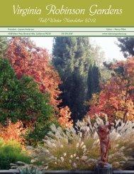 Virginia Robinson Gardens Newsletter-Fall Winter 2012