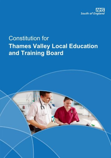 Thames Valley LETB Constitution - Workforce and Education
