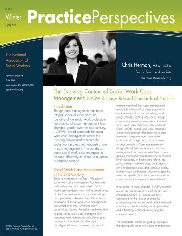 The Evolving Context of Social Work Case Management - National ...