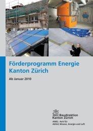 Förderprogramm Energie Kanton Zürich