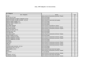 Osny - ERP catégories 1 à 5 avec sommeil 1er Catégorie