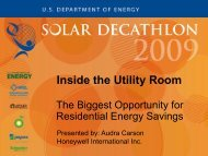 Inside the Utility Room: The Biggest Opportunity ... - Solar Decathlon