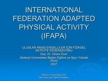 Uluslararası Engelli Bireyler İçin Fiziksel Aktivite ... - EBFAD