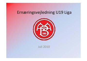 U 19 Liga - AaB af 1885