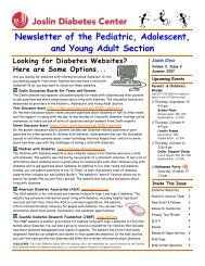 Newsletter of the Pediatric, Adolescent, and Young Adult Section