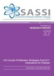 US Counter Proliferation Strategies Post 9/11: Implications for Pakistan