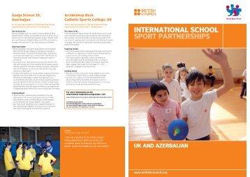 InternatIonal SCHool SPort PartnerSHIPS - British Council