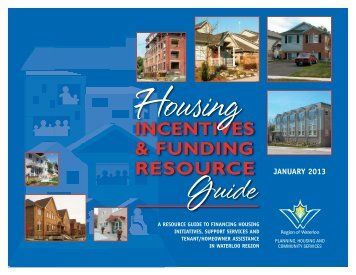 Housing Incentives and Funding Resource Guide - Social Services