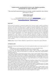 """""""Análisis teórico-experimental del colector solar cilíndrico parabólico ..."""