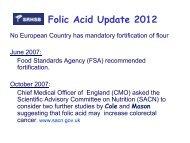 Folic Acid Update 2012 - RBU