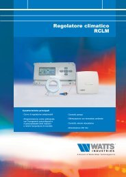 Regolatore climatico RCLM - Watts Industries