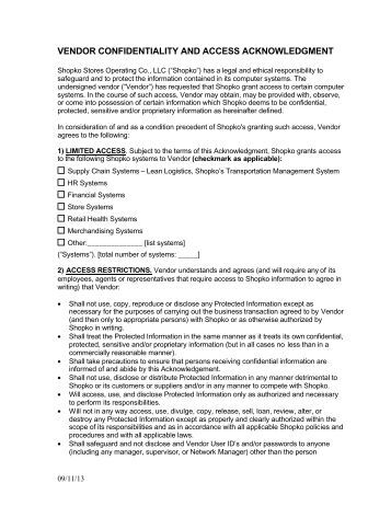 Beautiful Vendor Confidentiality Agreement Contemporary  Best