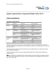 System requirements: Corporate Modeler Suite 10.3 E ... - Casewise